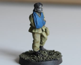 Soldier figure of the wounded Afrika korps metal of the Second World War