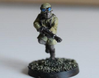 Soldier figure Afrika korps World War II hand-painted.