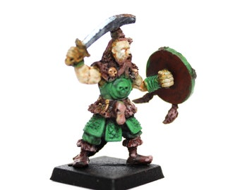 Miniature Barbarian Dungeons and Metal Dragons for Board Games