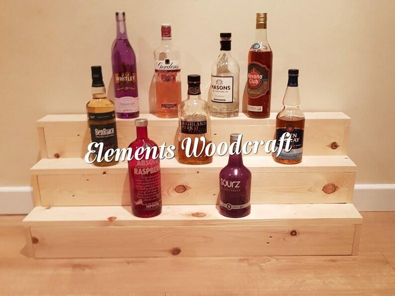 3 Tier Liquor Display, Man Cave Beer Display, Cupcake Display, Bar Display,  Bottle Display, Kitchen Counter Shelf, Craft Fair Display