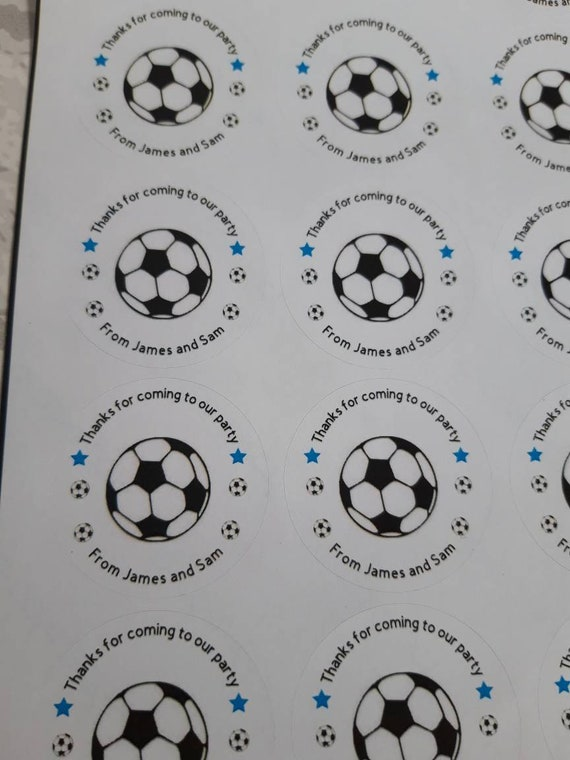 20 Personalized Gift STICKERS~ All Sports Balls