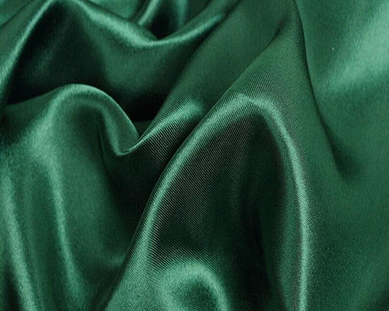 20712414768e5 Emerald green Satin Fabric Emerald green Satin Bride Fabric | Etsy