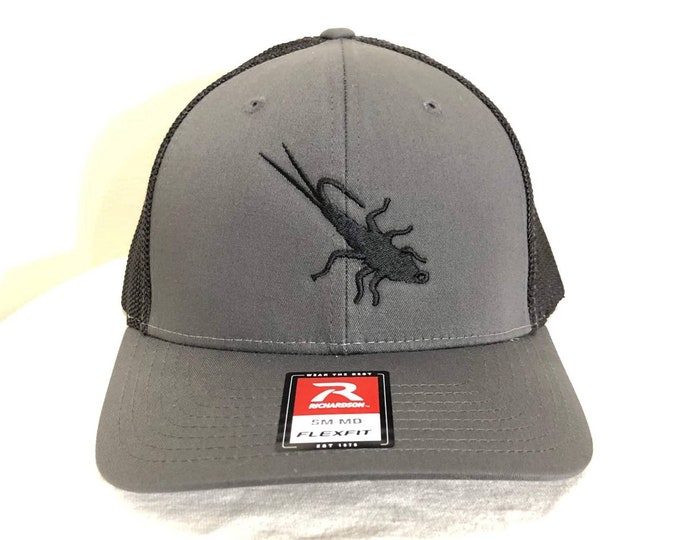Trout Sniffer Flex-Fit Logo Cap (Charcoal/Black)