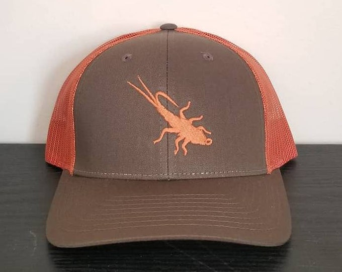 Trout Sniffer Adjustable Logo Cap. (Dark Olive/Burnt Orange)