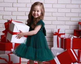 Baby Christmas dress, sequin dress, Toddler Dress, holiday dress for baby, Stunning girls Christmas dress