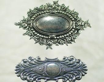 bronze brass,collage cabochon oval,18x25mm,Gothic Victorian boheme,supply DIY haberdashery base pendant open frame