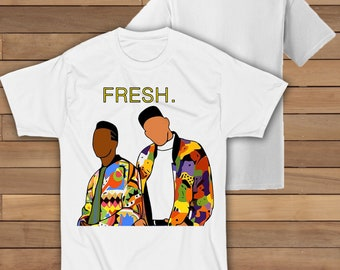 b11cf183 The Fresh Prince & Dj Jazzy Jeff ETSYRHY15 White Unisex T Shirt Free UK  Delivery