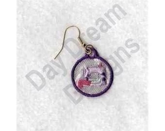 Sewing Machine Earrings - Machine Embroidery, Embroidery Designs, Embroidery Patterns, Embroidery Files