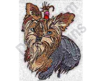 Yorkie - Machine Embroidery, Embroidery Designs, Embroidery Patterns, Embroidery Files