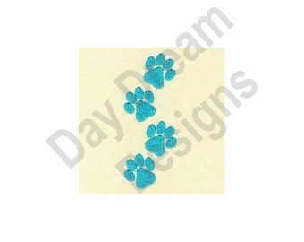 Paw Prints - Machine Embroidery Design, Embroidery Patterns, Embroidery Files, Instant Download