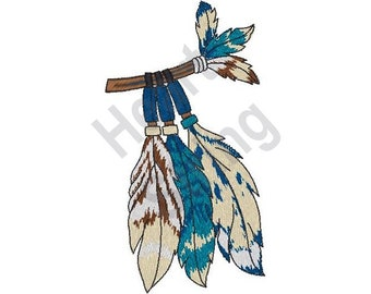 Feather Spear - Machine Embroidery Design, Embroidery Patterns, Embroidery Files, Instant Download