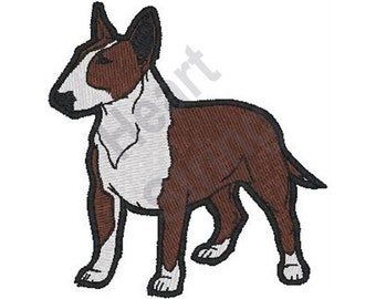 Bull Terrier - Machine Embroidery Design, Embroidery Patterns, Embroidery Files, Instant Download