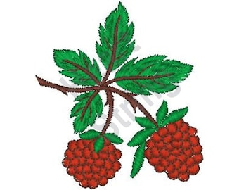 Raspberry - Machine Embroidery Design, Embroidery Patterns, Embroidery Files, Instant Download