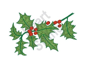 Holly Leaves - Machine Embroidery Design, Embroidery Patterns, Embroidery Files, Instant Download