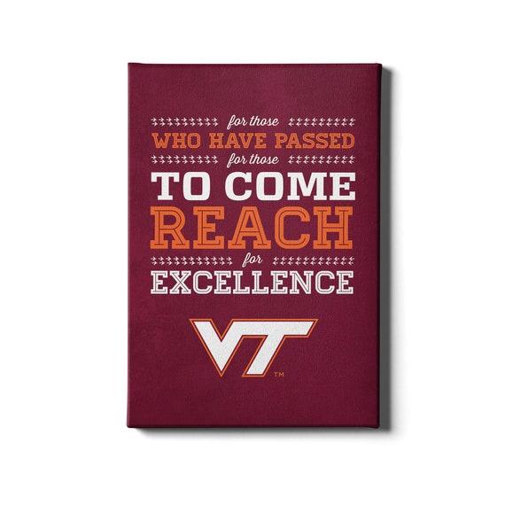Reach Virginia Tech Hokies Canvas Wall Art Virginia Tech Etsy