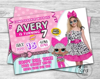 Lol Surprise Doll Birthday Invitation Etsy