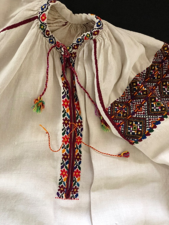 Antique/ Vintage Ukrainian dress. Pokuttya Region… - image 7