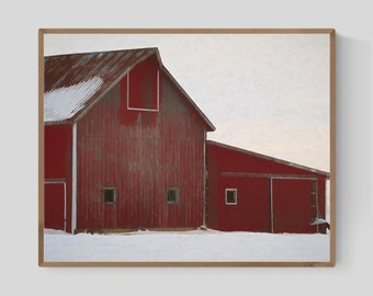 picture relating to Barn Printable identified as Crimson barn printable Etsy