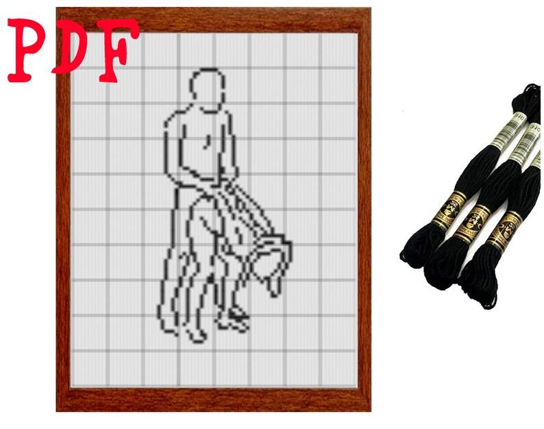 CUSTOM Cross stitch pattern kamasutra Mature content