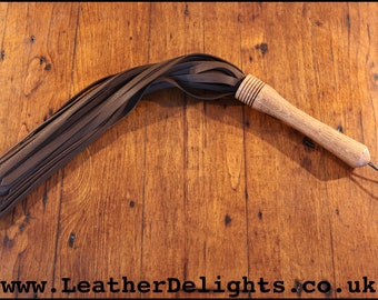 100/% Leather Sjambok Style Flogger Whip With Silver Ball Single Tail Whip