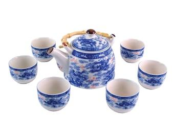 Herbal Teapot Set - Nine Dragon Tea Set, Ceramic Tea Set, Teapot, Teacup Gift set.