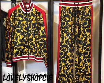 8024420d1fc survêtement d inspiration VERSACE inspiré pull unisexe Floral sweat Versace  veste femme   homme Versace