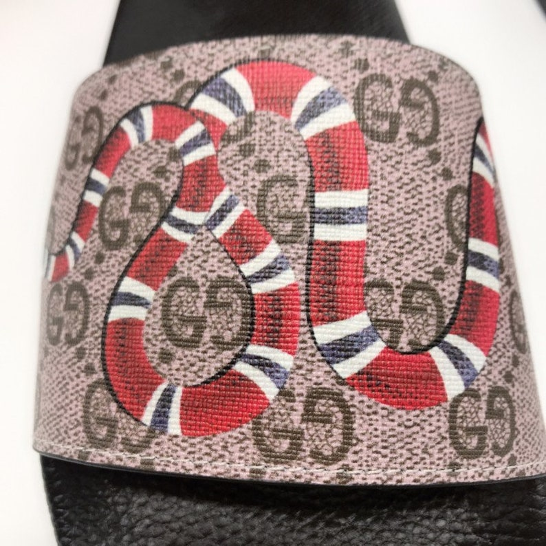 45673d31ce52 Custom Gucci Hand printed snake women men inspired unisex