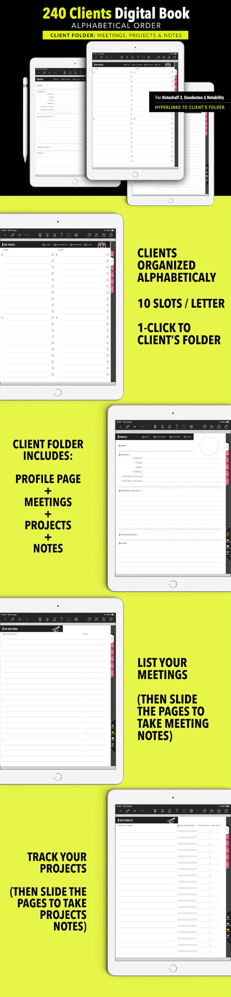 240x CLIENT Digital BOOK for Noteshelf 2 Goodnotes and image 0