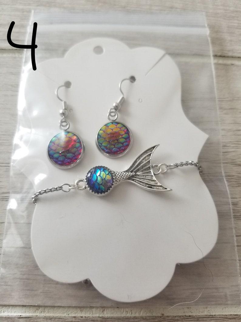 Mermaid Bracelet and Earrings Set