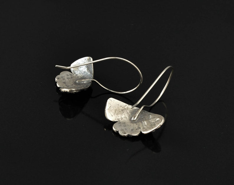 Metalsmith Jewelry Contemporary Vintage Rustic Hand Forged Metal Vintage Silver Earrings Long Silver Earrings Big Bohemian Earrings