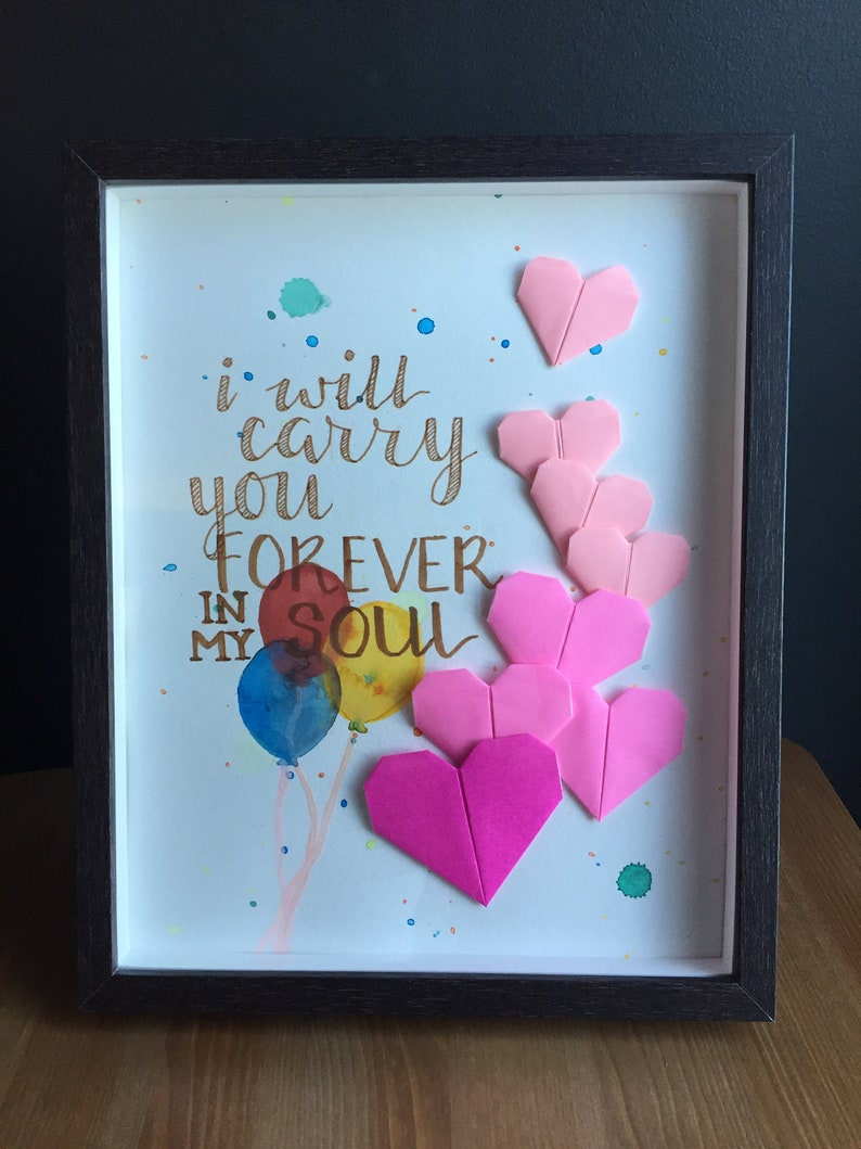 Balloon Hearts | miscarriage, infant loss, child loss, memorial gift, baby  memorial wall art