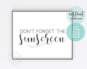 Don't forget the sunscreen | Spa Decor | Salon Decor | Beauty Quote | Esthetician Decor | Spa | Salon | Sunscreen | SPF | Skin Care