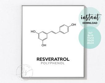 Resveratrol | Esthetician Decor | Spa Quote | Salon Quote | Spa | Salon | Skin Care Quote | Beauty Quote | Medical Spa | Print