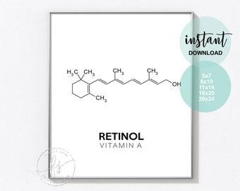 Retinol | Esthetician Decor | Spa Quote | Salon Quote | Spa | Salon | Skin Care Quote | Beauty Quote | Medical Spa | Print