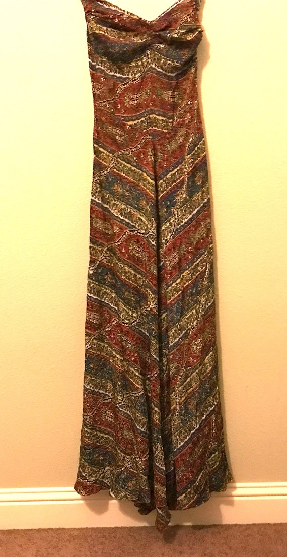 Vintage Gucci 1940's Patterned Silk Gown