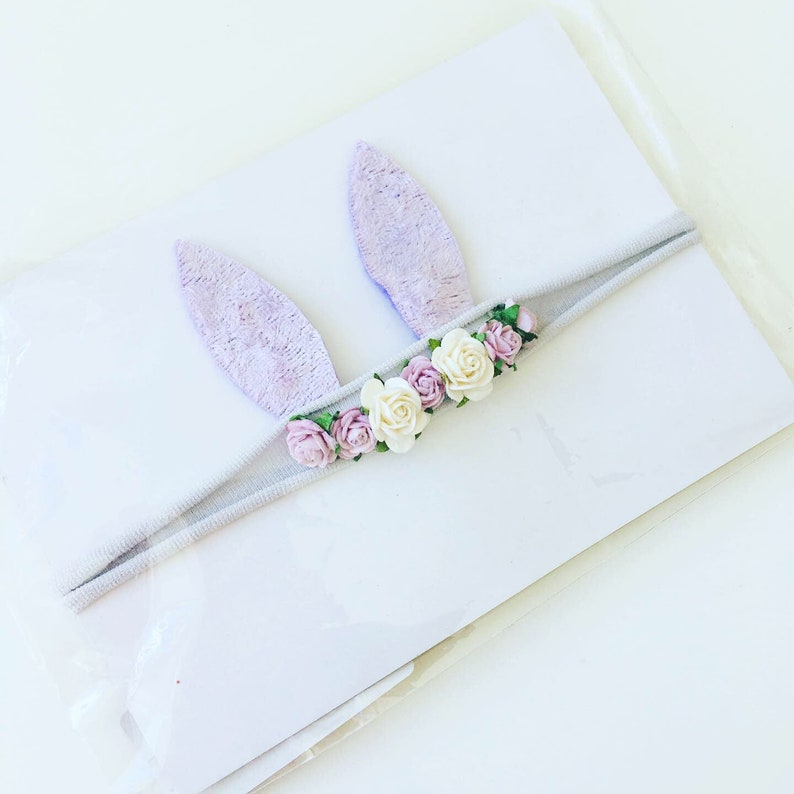 Lilac bunny ears headband easter photography