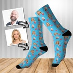 Loved Up Personalised Face Socks, Socks, Face Socks, Personalised Face Socks, Valentines Gifts, Birthday Gifts, Men's Socks, Women's Socks