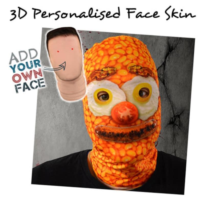 Amazing 3D Face Skin Face Mask Fancy Dress Zombie Clowns image 0