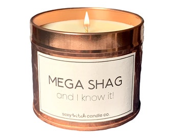 Mega Shag, Funny Candle, Vegan Candle, Cruelty Free Candle Rude Candle, Silly Candle, Mature Offensive Christmas Gift Funny Xmas