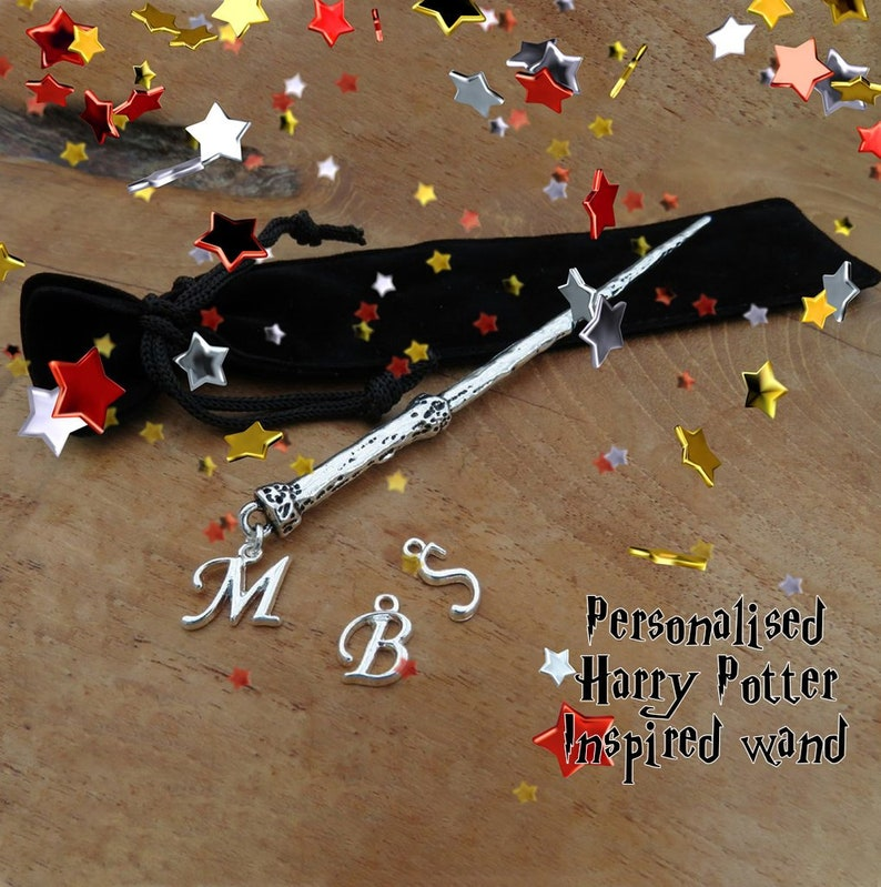 Harry Potter inspired magical silver handmade personalised image 0
