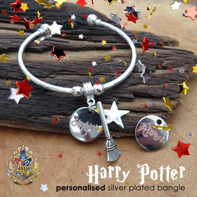 Harry Potter Inspired personalised magic star Bangle image 0