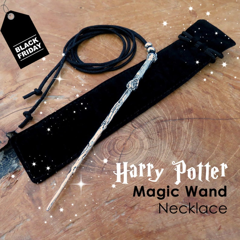 Harry Potter inspired magic Wand necklace Wizard Witch Wand image 0