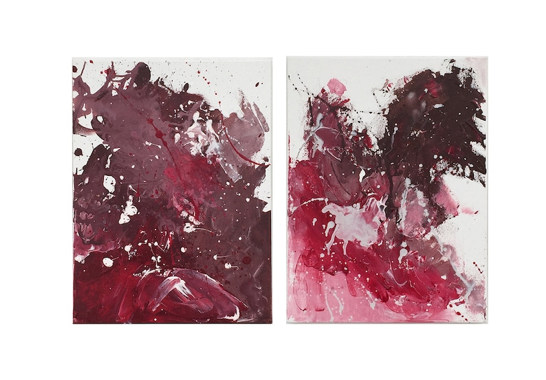 Abstract art Abstract Painting Print canvas art Acrilyc Painting Wall art Cherry chocolate by Effa wall decor Contemporary Art