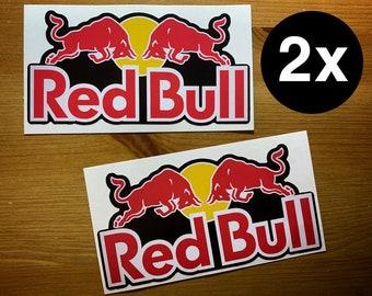 e5722be671f RED BULL Stickers Vinyl Decal Team Sponsor Logo Dirt Bike Race Car ATV bmx  Skateboard Snowboard Emblem 2x