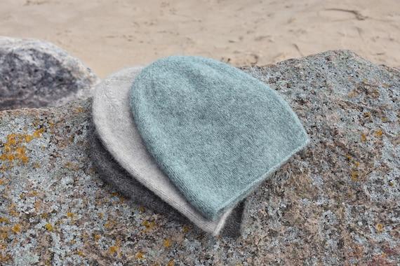 Soft alpaca beanie hat with silk. Lightweight warm alpaca beanie for any season. Ready to ship.