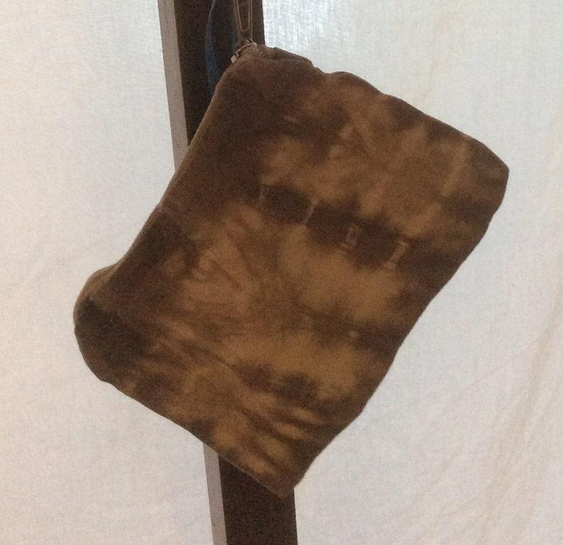 Zipper pouch zipper bag tie dye pouch black walnut dye