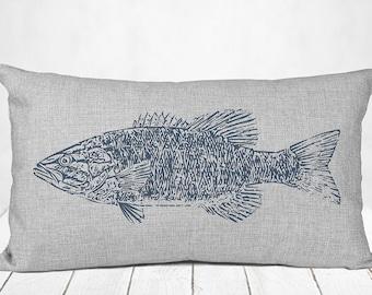 Fish Throw Pillow Etsy