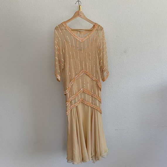 Vintage Oleg Cassini Beaded Dress
