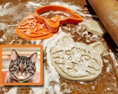 Personalized Pet Face Cookie Cutter & Stamp Set | Custom Cat Dog Pet Cookie Cutter and Stamp