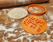 Personalized Wedding Cookie Cutter & Stamp | Custom Wedding Names Date Cookie Cutter and Stamp
